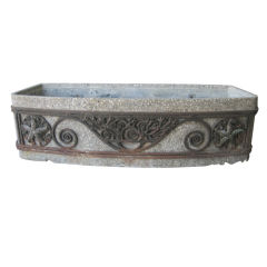 Art Deco Concrete and Iron Planter