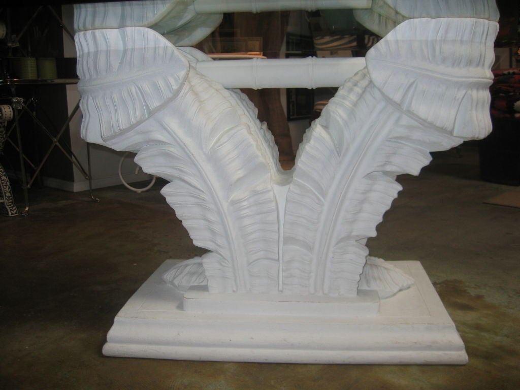 Plaster of Paris Glass Top Table in the Style of Dorothy  : 121809011 from www.1stdibs.com size 1024 x 768 jpeg 75kB
