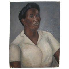 African American Portrait Oil Painting by Miller