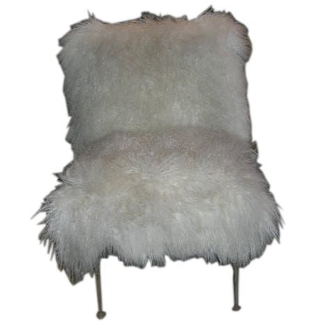 1940 39 S Chair Upholstered In Mongolian Lamb At 1stdibs