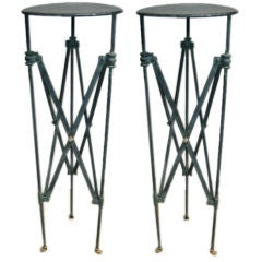 Pair of Verdi-gris Iron Pompeiian Style Stands
