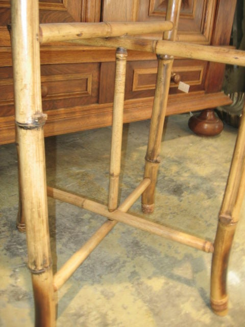 Bamboo Plant Stand with Large Woven Basket Top 6
