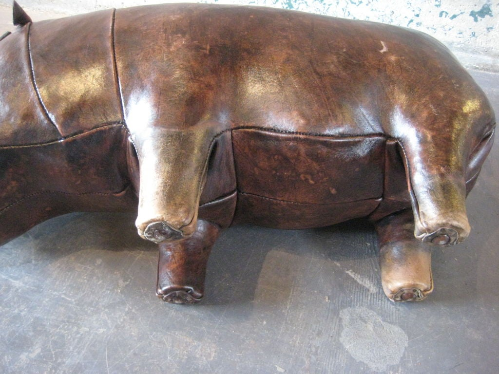 this leather hippo ottoman for abercrombie is no longer available