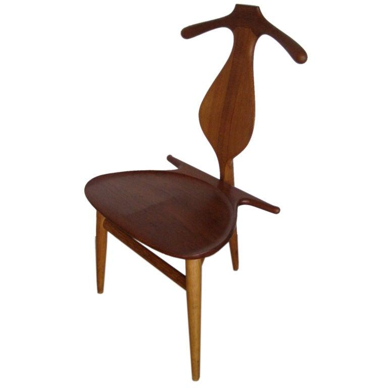 Valet Chair In Teak And Oak Designed By Hans Wegner At 1stdibs