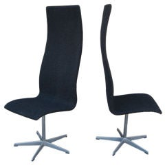 Set of Eight Oxford chairs by Arne Jacobsen