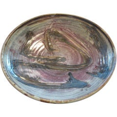 Large studio pottery charger