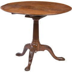 Irish George III tripod base dish top tea table