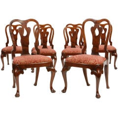 Set of eight Queen Anne chairs