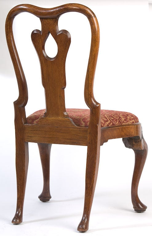 English Set of eight Queen Anne chairs For Sale