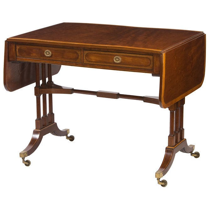 Regency mahogany sofa table for sale at 1stdibs for Sofa table on sale