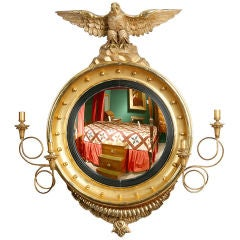 American Federal Gilt Convex Mirror