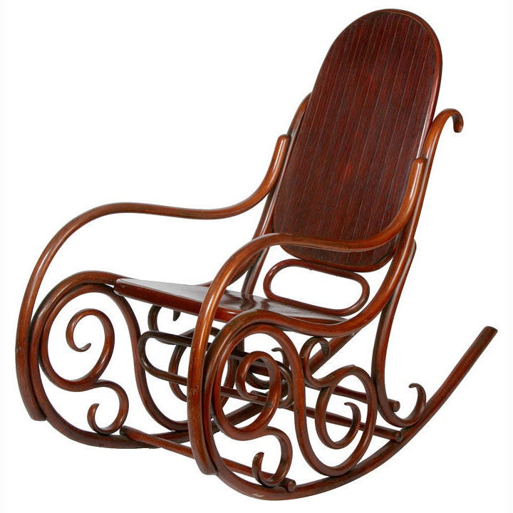 Antique Bentwood Rocking Chair At 1stdibs