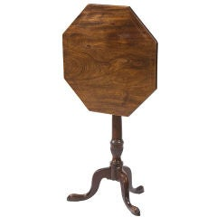 English George III mahogany candlestand