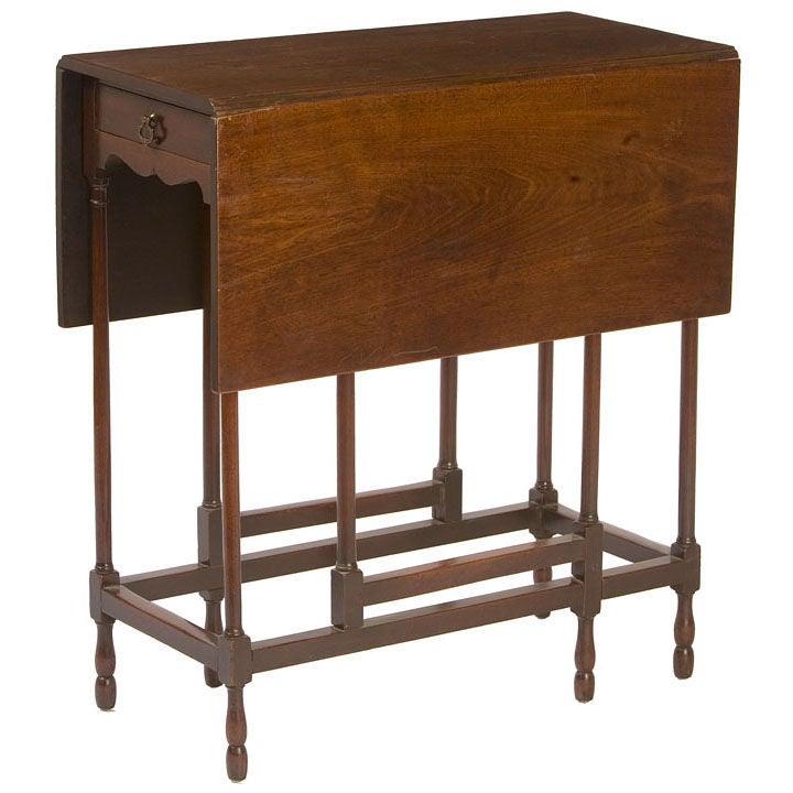 George iii mahogany one drawer gateleg table at 1stdibs - Gateleg table with drawers ...