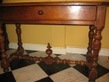 French early 18th century walnut table image 2