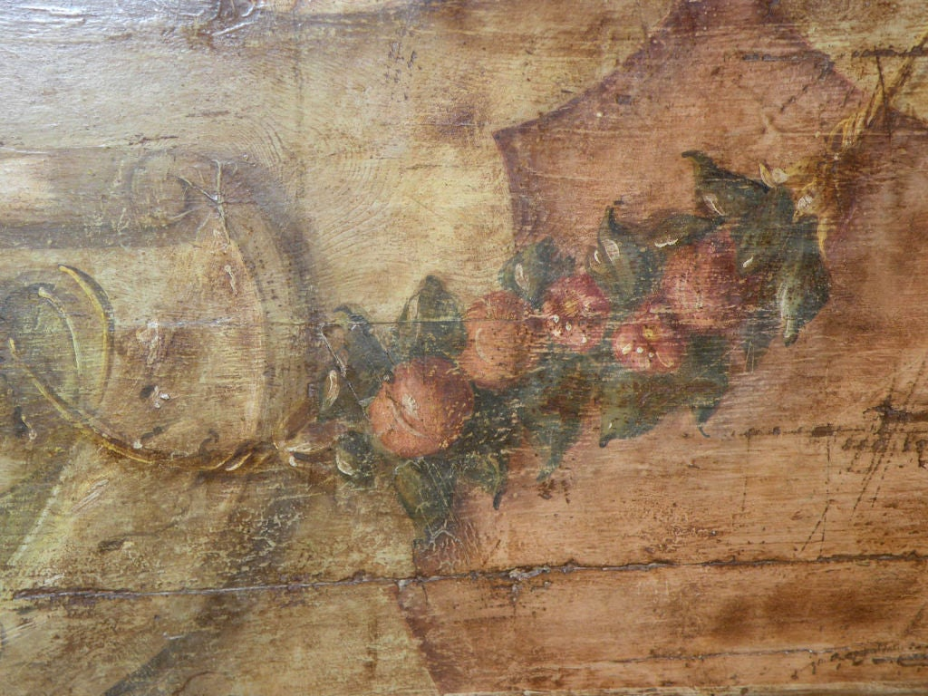 Italian 18th century Painted Baroque Cassapanca For Sale 3