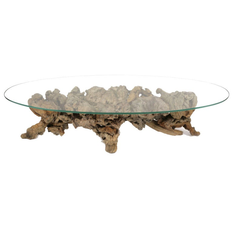Sculptural Driftwood Cocktail Table At 1stdibs