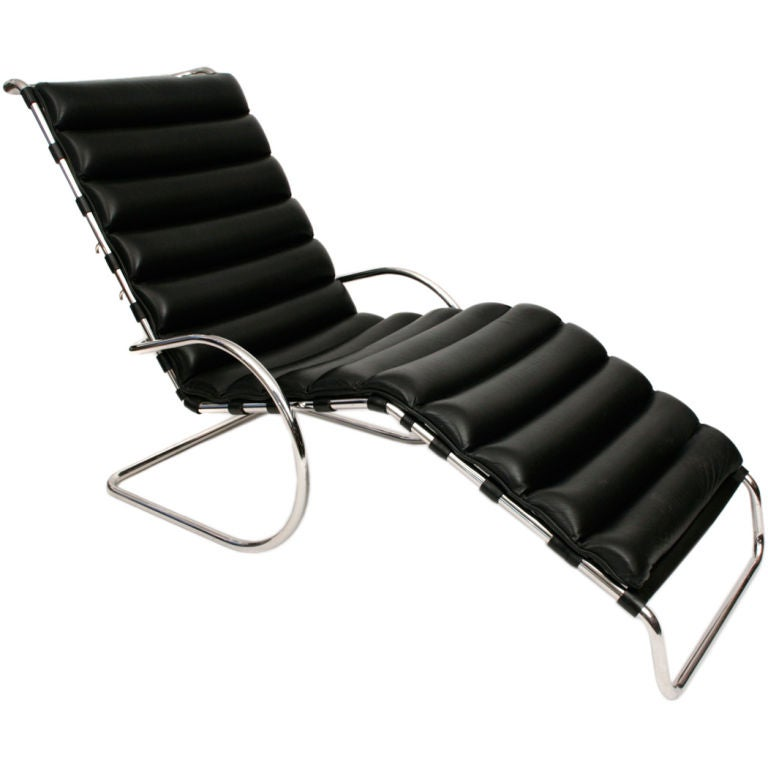 mies van der rohe adjustable mr chaise lounge at 1stdibs. Black Bedroom Furniture Sets. Home Design Ideas