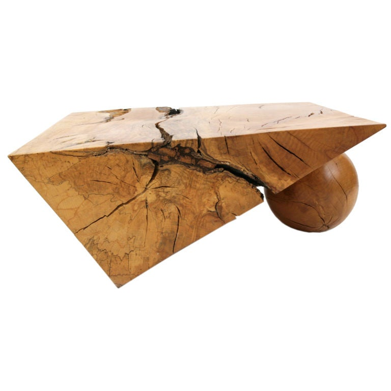 Spalted beech cocktail table by howard werner at 1stdibs for Beech coffee table