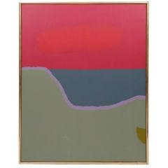Early Dorothy Fratt Color Block Acrylic Painting