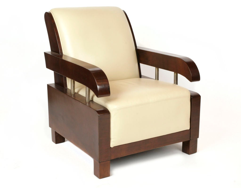 Elegant french art deco lounge chairs at 1stdibs for Examples of art deco furniture