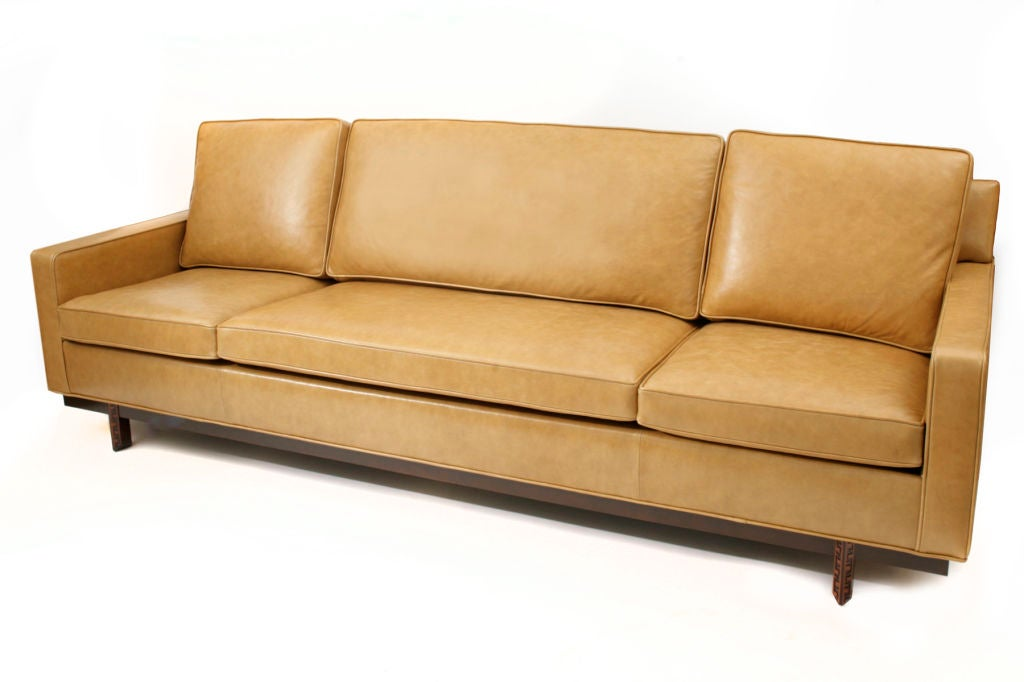 Pair Of Frank Lloyd Wright For Henredon Leather Sofas At 1stdibs