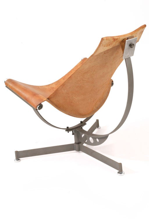 Max Gottschalk Leather Sling Chair At 1stdibs