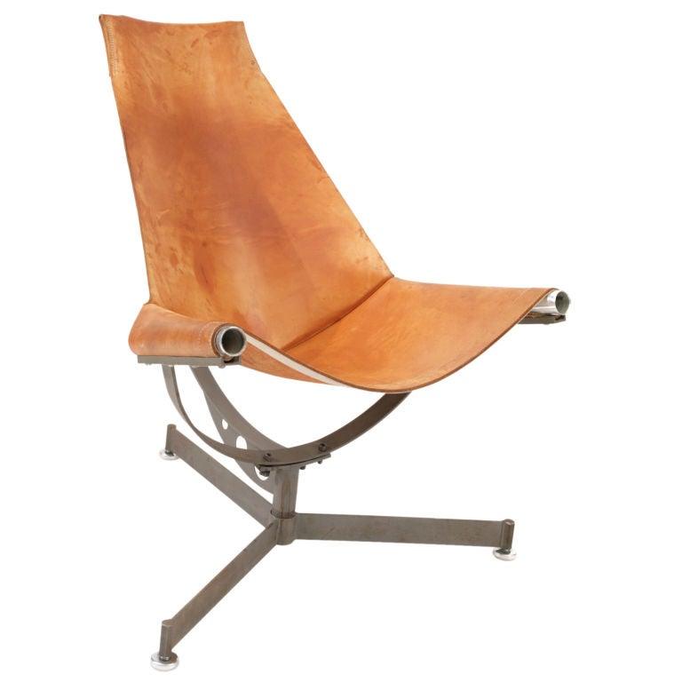 Max Gottschalk Leather Sling Chair At 1stdibs
