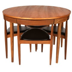 Hans Olsen for Frem Rojle Dining Table & Chairs