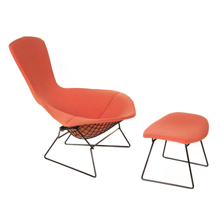 Iconic harry bertoia for knoll bird chair and ottoman at Iconic chair and ottoman
