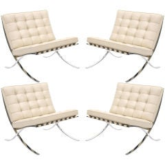 4 Barcelona Chairs by Knoll