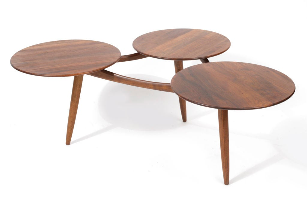 Pair Of Organic Circle Tables At 1stdibs