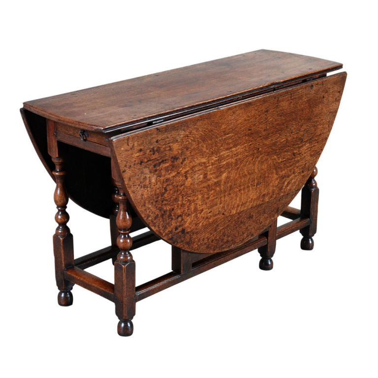 Large oak gate leg table at 1stdibs for 1 oak nyc table prices