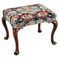 Camelback Sofa In Period Needlepoint At 1stdibs