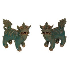 Pair of whimsical foo dogs