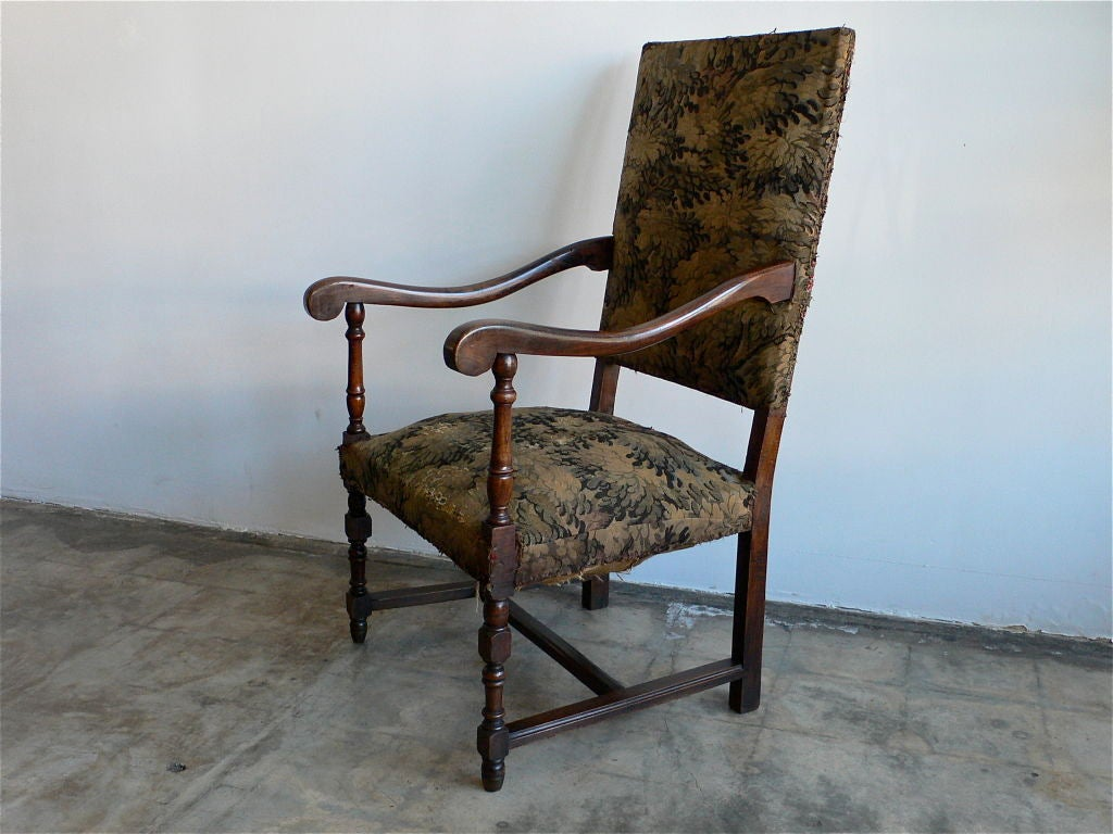 Beech Antique French Armchair