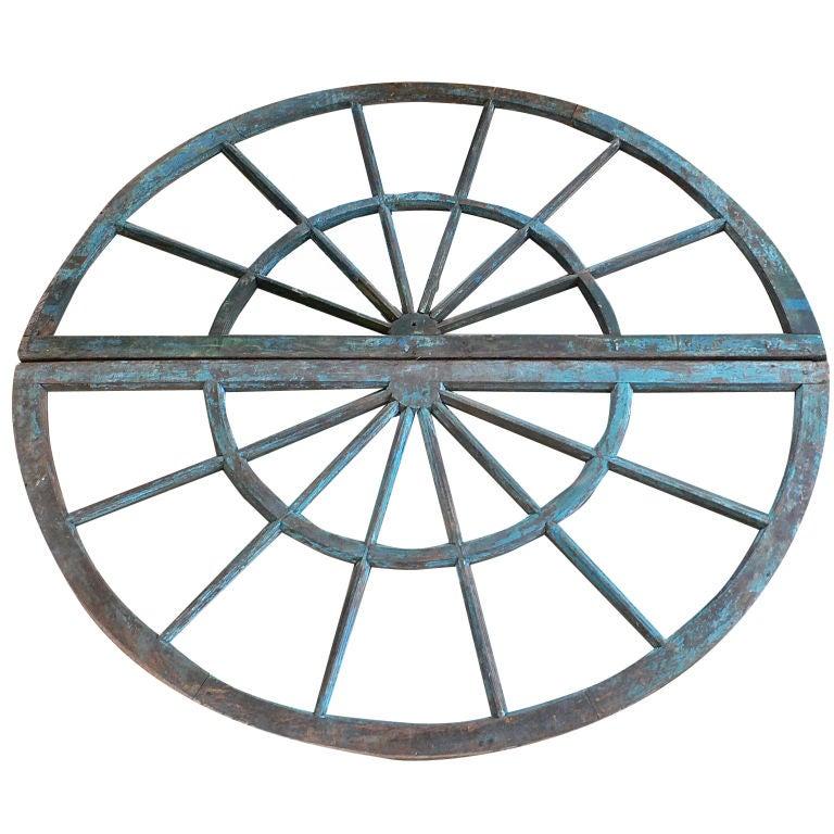 LARGE PAIR DEMI LUNE WINDOWS c.1800 For Sale