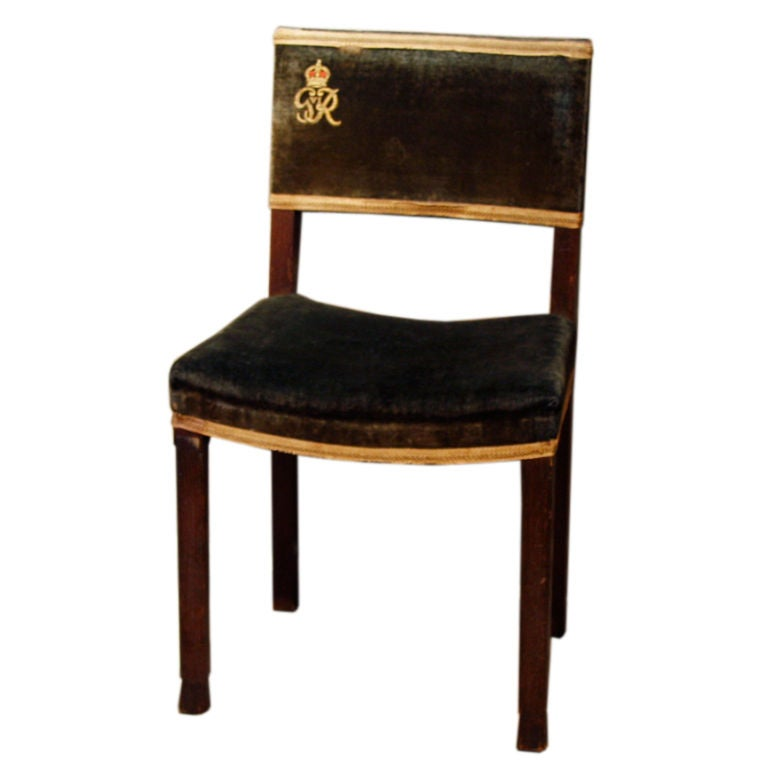 Pair of 1937 George VI Coronation Chairs  sc 1 st  1stDibs & Exceptional 1937 King George VI Coronation Chair and Stool Fully ...