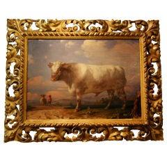 Pair of Bull Paintings