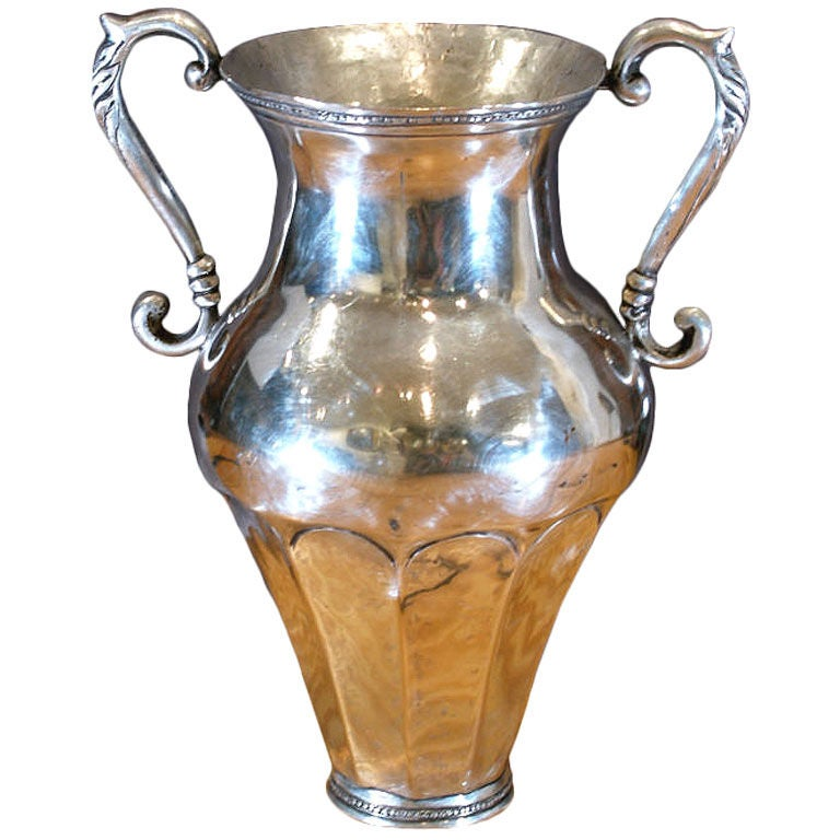 Silver Vase Spanish Colonial Peruvian At 1stdibs