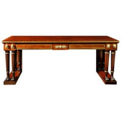 A Regency Mahogany And Brass And Ebony-inlaid Serving Table
