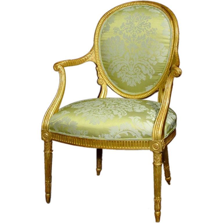 A Fine George III Giltwood Armchair 1
