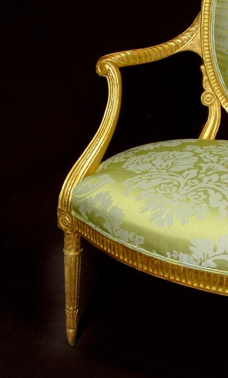 A Fine George III Giltwood Armchair 2