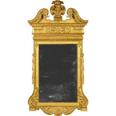 George II Gilt Gesso Mirror