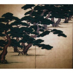 Japanese Screen: Painting of Hammatsu