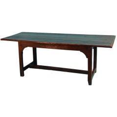 English provincial oak harvest table.