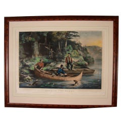 Pair of Currier and Ives Folio Colored Lithographs