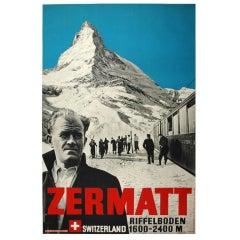 Original Photmontage Ski Poster featuring the Matterhorn