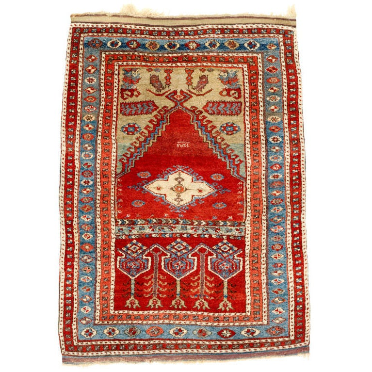 Prayer Rug Types: Antique Anatolian Prayer Rug At 1stdibs