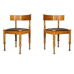 A Pair of Danish Neoclassical Chairs Attributed to Hansen
